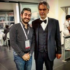 With Andrea Bocelli