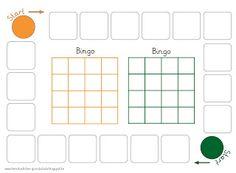 Lernstübchen: Blankoversion des Bingospielplans
