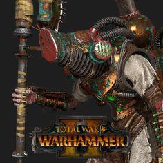 Total War: Warhammer 2 -Skaven Warlock Engineer, Matthew Davis on ArtStation at https://www.artstation.com/artwork/wYeJV
