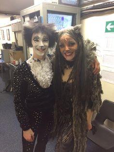 Me as Mistofelees and @kerryjaneellis1 as Griz @PalladiumLondon in @CatsMusical #catsthemusical