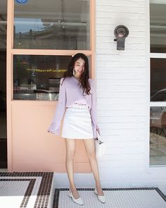 Rock feminine casual with spunk with Daily About city girl skirt!