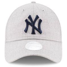 3ce8b71e0e9 Women s New York Yankees New Era Heathered Gray Preferred Pick 9TWENTY...  (2515 RSD) ❤ liked on Polyvore featuring accessories