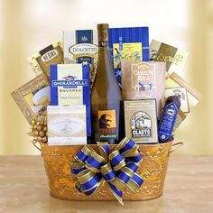 Wine and chocolate gift basket... is a nice way to bring joy for Christmas!