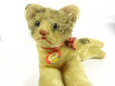Vintage Steiff Cat Vintage Stuffed Cat Toy by KarensChicNShabby, $125.00