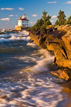 Mentor Headlands Beach, Ohio, USA.