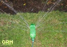 How to make a ghetto sprinkler out of a soda bottle.