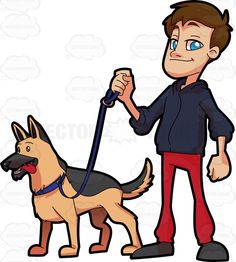 A German Shepherd Carrying A Backpack | Products, Cartoon and ...