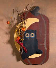 This Harvest Owl Wall Art is perfect! #zulilyfinds