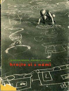 Rhymes by František Hrubín, photos by Dagmar Hochová. Old Photographs, Photos, Chalk Art, Play, Outdoor Ideas, Prague, Movie Posters, Vintage, Kids