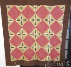Early c 1870s Road to California ANTIQUE Quilt 86 x 84 Pennsylvania