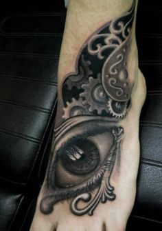 Spotlight: Horror Tattoos By Clod The Ripper Egyptian Eye Tattoos, Great Tattoos, Black And Grey Tattoos, Ink Art, Tattoo Artists, Tatting, Horror Tattoos, Skull, Ear
