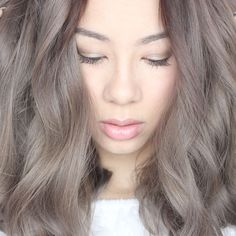 Light grey/brown hair color h a i r i 2019 hair, light hair Grey Brown Hair, Light Ash Brown Hair, Ash Hair, Light Blonde Hair, Light Hair, Brown Hair Colors, Ash Blonde, Hair Colour, Corte Y Color