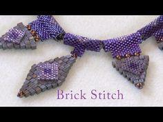 Artbeads Mini Tutorial - Brick Stitch with Leslie Rogalski~ Seed Bead Tutorials