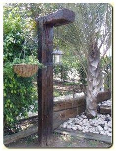 Railroad Tie Light or Plant Post