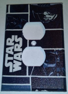 Star Wars Print Outlet Plate Cover by PeddlinTreasurez on Etsy, $6.00