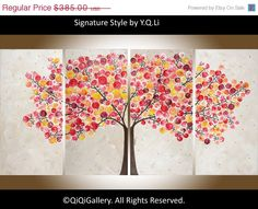 Original Painting Abstract Painting Landscape by QiQiGallery