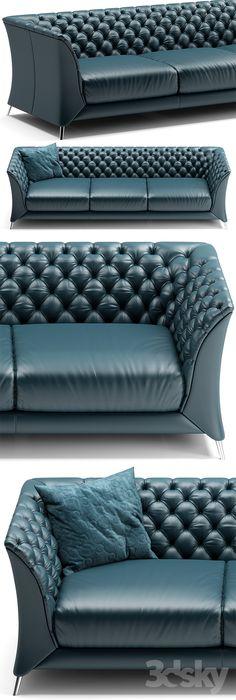3d models: Sofa - Sofa natuzzi La Scala