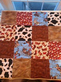 Custom Cowgirl Rodeo Events Quilt Western Print by Western Quilts ... : cowboy baby quilt - Adamdwight.com