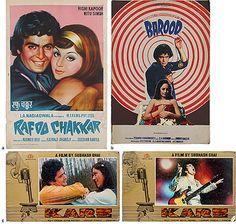 From the #iconic Rishi #Kapoor #Collection #original #collectibles #Karz (1980) #Barood (1976) #Rafoo #Chakkar (1978)   StoryLTD