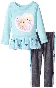 Disney Girls' 2 Piece Anna and Elsa French Terry Pullover Set $6-$9.99 http://amzn.to/1SJkszX?utm_campaign=coschedule&utm_source=pinterest&utm_medium=Baby%20to%20Boomer%20Lifestyle