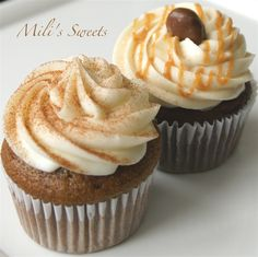 Pumpkin Spice Latte and Chocolate Salted Caramel by Mili's Sweets