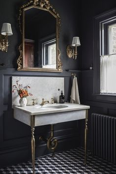 House of Brinson One Room Challenge Bathroom renovation Victorian Bad Inspiration, Bathroom Inspiration, Bathroom Interior Design, Restroom Design, Interior Paint, Beautiful Bathrooms, Glamorous Bathroom, Bathroom Renovations, Interiores Design