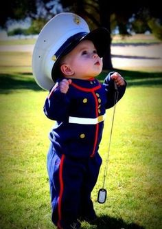 Little marine in honor of his Uncle (and all the others who are fighting for our country). I would really love to see this on my baby. Precious Halloween costume