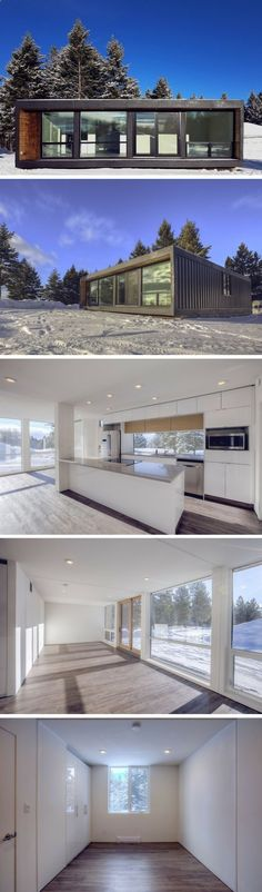 Container House - HO4 Shipping Container Home. I could do with far less windows, or at least far smaller windows but this layout is awesome and has great potential for customization. - Who Else Wants Simple Step-By-Step Plans To Design And Build A Container Home From Scratch?