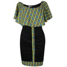 Code Wear African Print Off-Shoulder Sheath Dress - Multicoclour   Buy online   Jumia Ghana