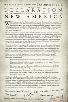If today's secessionists wrote their own Declaration of Independence.