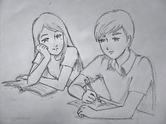 Love, easy drawings sketches, pencil sketch drawing, couple drawings, sad s Cute Love Sketches, Pencil Sketches Of Girls, Cute Drawings Of Love, Pencil Drawings Of Love, Pencil Sketch Drawing, Sad Drawings, Cute Couple Drawings, Art Drawings Sketches Simple, Cartoon Drawings