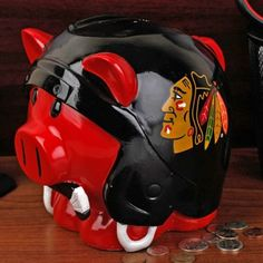 But really, who wouldn't want this piggy bank? #HockeyHolidays