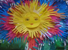 colourful sun made from students handprints.#Repin By:Pinterest++ for iPad#