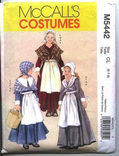 GIRLS THANKSGIVING PILGRIM Costume Mccalls by BRICABRACGARDEN, $3.00