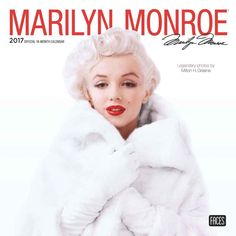 Marilyn Monroe 2017 official 16 month calendar, Browntrout, published July 2016.