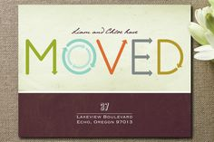 Movin' On Up Moving Announcements by Rosemarie Levy at minted.com