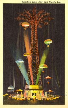 Parachute Jump, New York World's Fair, 1940.