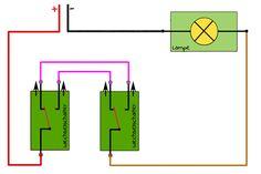 wechselschaltung licht 3 schalter 2 lampen