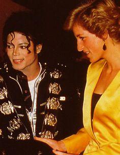 July 18, 1988: Princess Diana with Michael Jackson at the Michael Jackson Concert in aid of the Prince's Trust at Wembley.