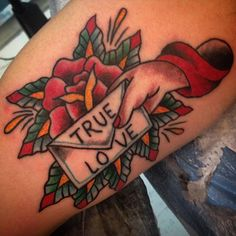 """inkandspit: """"inner arm tattoo based on some old flash i did, thanks for looking! @chrischapmantattoo """""""