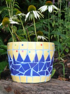 Mosaic Flower Pot by Ruth Ames-White More More