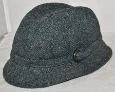 Harris Tweed - Greenwood Trilby Hat Size 58cm, Made In Britain