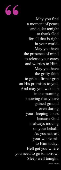 An Evening Prayer/Blessing