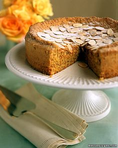 Apricot Almond Torte -- recommend cutting in half lengthwise and spreading applesauce. SO tasty!