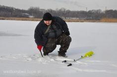 Wędkarstwo podlodowe, podlodówka w Polsce. Ice fishing in Poland.