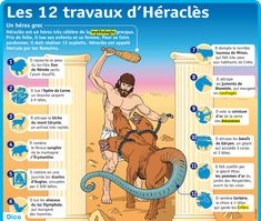 "The 12 Tasks of Héraclès (Hercules) (From ""The Metamorphoses"" of Ovid - Book Greek Gods And Goddesses, Greek Mythology, Metamorphosis Book, Ovid Metamorphoses, Cultura General, French Expressions, French Language Learning, Religion, Play To Learn"