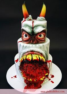 8. Angry Monster Cake ~ I know it is the gorgeous cake board but.....still amazing!!