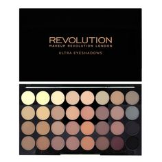Makeup Revolution - Ultra 32 Shade Eyeshadow Palette - Flawless Matte