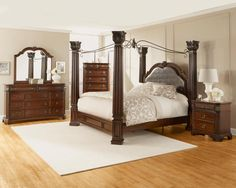 Primrose King Canopy Bed By Lifestyle