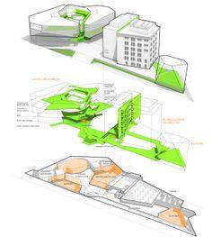 2. Preis: Raum-Zeit-Spirale © Wilford Schupp Architekten